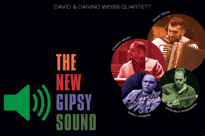 THE NEW GIPSY SOUND :: David & Danino Weiss Quartett :: David Weiss - Akkordeon | Danino Weiss - Piano | Peter Cudek - Bass | Guido May - Drums
